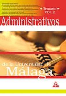 Inmaswan.es Administrativos De La Universidad De Malaga (Vol. Ii) Image