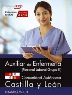 Bressoamisuradi.it Auxiliar De Enfermería (Personal Laboral Grupo Iii) Comunidad Autónoma Castilla Y León. Temario Vol. Ii. Image