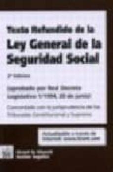 Geekmag.es Texto Refundido De La Ley General De La Seguridad Social (Aprobad O Por Real Decreto Legislativo 1/1994, 20 De Junio) (2ª Ed.) Image