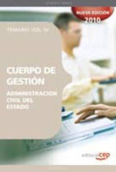 Bressoamisuradi.it Cuerpo De Gestion De La Administracion Civil Del Estado. Temario Vol. Iv Image