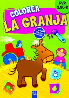 Bressoamisuradi.it Colorea La Granja. Burrito (Con Adhesivos Reutilizables) Image