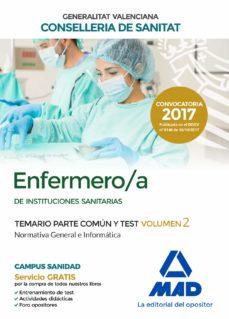 enfermero/a de instituciones sanitarias de la conselleria de sanitat de la generalitat valenciana temario parte común y test-9788414211823