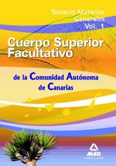 Colorroad.es Cuerpo Superior Facultativos De La Comunidad Autonoma De Canaria Temario Materias Generales. Volumen 1. Image