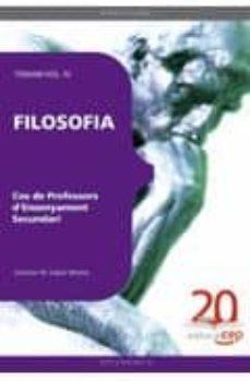 Inciertagloria.es Cos De Professors D Ensenyament Secundari. Filosofia. Temari Vol. Iv Image