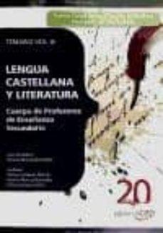 Permacultivo.es Cuerpo De Profesores De Enseñanza Secundaria. Lengua Castellana Y Literatura. Temario Vol. Iii. Image