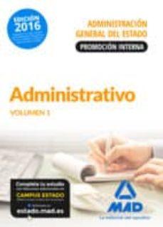 Titantitan.mx Administrativo De La Administración General Del Estado (Promoción Interna). Temario Volumen 1 Image