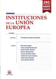 instituciones de la unión europea-concepcion escobar hernandez-9788491192923