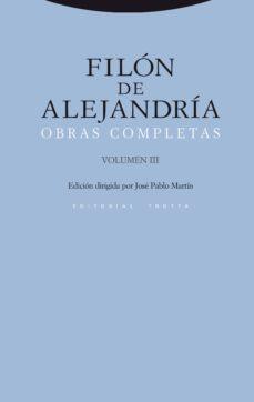 filon de alejandria: obras completas (vol. iii)-filon de alejandria-9788498792423