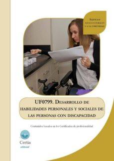 (UF0799) DESARROLLO DE HABILIDADES PERSONALES Y SOCIALES DE LAS PERSONAS CON DISCAPACIDAD - ARACELI RODRÍGUEZ RODRÍGUEZ | Adahalicante.org