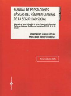 manual de prestaciones básicas del régimen general de la segurida d social-encarnacion tarancon perez-9788416608133