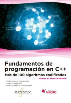 fundamentos de programación en c++-ricardo walter marcelo villalobos-9788426724533
