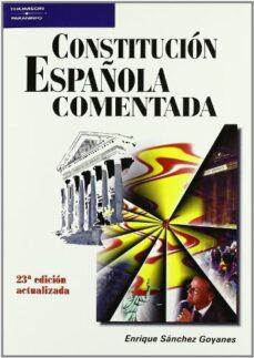 Descargar CONSTITUCION ESPAÃ'OLA COMENTADA gratis pdf - leer online