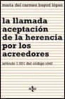 Permacultivo.es La Llamada Aceptacion De La Herencia Por Los Acreedores: Articulo 1001 Del Codigo Civil Image