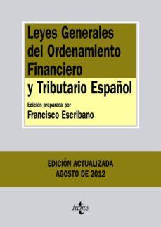 Chapultepecuno.mx Leyes Generales Del Ordenamiento Financiero Y Tributario Español (2ª Ed) Image