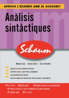 Descargar ANALISIS SINTACTIQUES: SCHAUM SELECTIVITAT gratis pdf - leer online