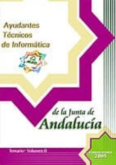 Ayudantes Tecnicos De La Junta De Andalucia Opcion Informatica Temario Vol Ii Vv Aa Comprar Libro 9788466520133