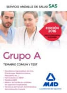 temario comun y test grupo a sas-9788490939833