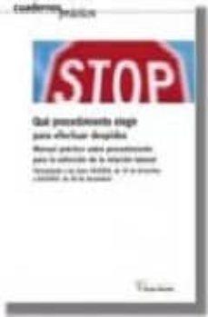 Permacultivo.es Que Procedimiento Elegir Para Efectuar Despidos: Manual Practico Sobre Procedimiento Para La Extincion De Relacion Laboral Image