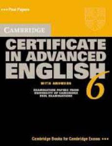 Descargar CERTIFICATE IN ADVANCED ENGLISH 6 SELF STUDY PACK gratis pdf - leer online