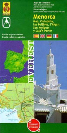 mapa de carreteras de menorca-9788424102043