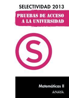 Chapultepecuno.mx Matematicas Ii. Selectividad 2013 Image