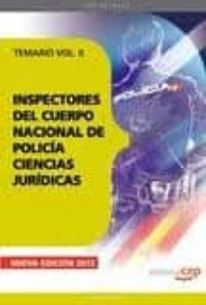 Padella.mx Inspectores Del Cuerpo Nacional De Policia Ciencias Juridicas: Te Mario Vol. Ii. Image