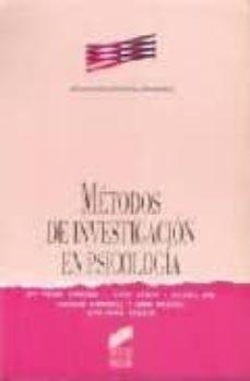 metodos de investigacion en psicologia nd/dsc-9788477382843