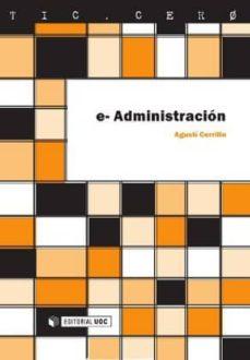 e-administración (ebook)-agustí cerrillo i martínez-9788497888943