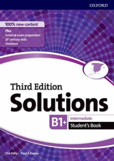 Descargar SOLUTIONS B1 INTERMEDIATE STUDENTS BOOK gratis pdf - leer online
