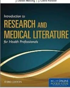 Descargar libros de italiano kindle INTRODUCTION TO RESEARCH AND MEDICAL LITERATURE FOR HEALTH PROFES SIONALS de J. DENNIS BLESSING in Spanish iBook FB2 CHM