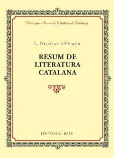 resum de la literatura catalana-lluis nicolau d olwer-9788416587353