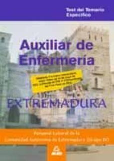 Mrnice.mx Auxiliar De Enfermeria. Personal Laboral De Extremadura: Temario Especifico Test Image