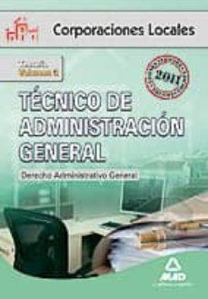 Permacultivo.es Tecnico De Administracion General De Corporaciones Locales. Volum En Iii. Derecho Administrativo General Image
