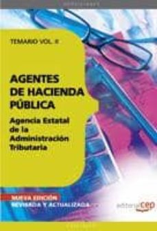 Cdaea.es Agentes De Hacienda Publica: Agencia Estatal De La Administracion Tributaria. Temario Vol. Ii (7ª Ed) Image