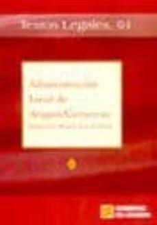 Carreracentenariometro.es Administracion Local De Aragon / Comarcas (Segunda Ed. Actualizad A) Image