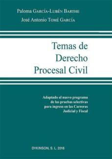temas de derecho procesal civil-jose antonio tome garcia-9788490859353