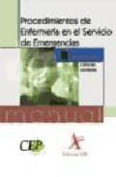 Curiouscongress.es Manual De Procedimientos De Enfermeria En El Servicio De Emergenc Ias. Formacion Image
