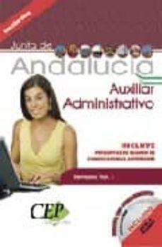 Padella.mx Oposiciones Auxiliar Administrativo De La Junta De Andalucia. Tem Ario (Vol. I) Image