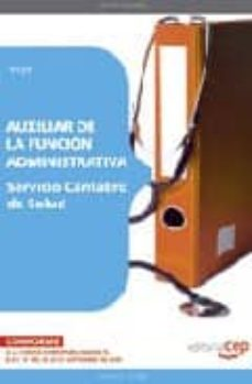 Debatecd.mx Auxiliar De La Funcion Administrativa. Servicio Cantabro De Salud Test Image
