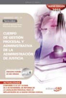 Inmaswan.es Cuerpo De Gestion Procesal Y Administrativa De La Administracion De Justicia. Turno Libre. Temario Vol. Iii. Image
