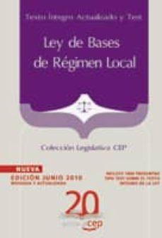 Titantitan.mx Ley De Bases De Regimen Local: Texto Integro Actualizado Y Test: Coleccion Legislativa Cep Image