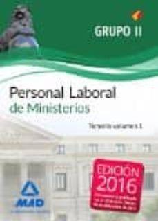Viamistica.es Personal Laboral De Ministerios Grupo Ii: Temario Volumen 1 Image
