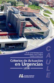 Descargas libros en cinta CRITERIOS DE ACTUACION DE URGENCIAS  9788415603573