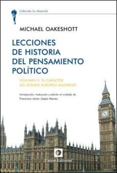 lecciones de historia del pensamientos politico, volumen ii-michael oakeshott-9788472096073