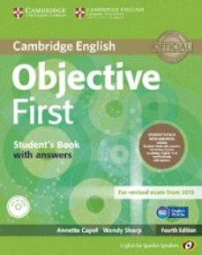 Descarga de la librería OBJECTIVE FIRST FOR SPANISH SPEAKERS SELF-STUDY PACK (STUDENT S BOOK WITH ANSWERS, CLASS CDS (3)) 4TH EDITION  de