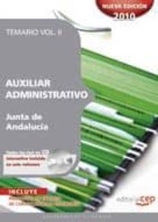 Inciertagloria.es Auxiliar Administrativo De La Junta De Andalucia. Temario Vol. Ii Image