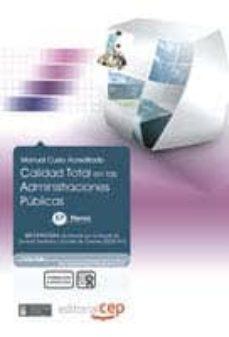 Curiouscongress.es Calidad Total En Las Administraciones Publicas (Administrativos). Coleccion Formacion Continuada (Essscan) Image