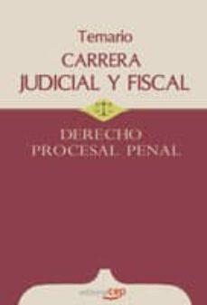 Valentifaineros20015.es Carrera Judicial Y Fiscal. Derecho Procesal Penal. Temario Image