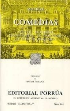 comedias: tartufo; el burgues; gentilhombre; el misantropo; el en fermo imaginario (16ª ed.)-9789700729473