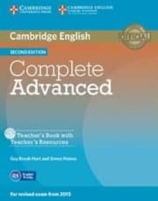 Descargas gratuitas de kindle book torrent COMPLETE ADVANCED 2ND EDITION TEACHER S BOOK WITH TEACHER S RESOURCES CD-ROM 9781107698383 RTF in Spanish